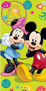 Osuška Mickey and Minnie 2015 - 75x150 cm