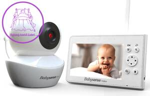 Dětská video chůvička Babysense Video Baby Monitor V43
